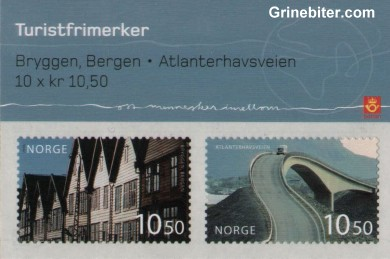 Bryggen/Atlanterhavsveien FH142 frimerkehefte