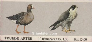 Dverggås og vandrefalk FH55 frimerkehefte