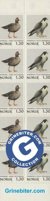FH55 Dverggås og vandrefalk frimerker