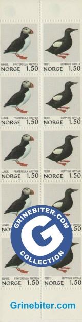 FH56 Lunde og teist frimerker
