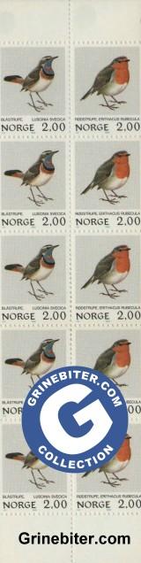 FH57 Blåstrupe og rødstrupe frimerker