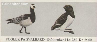 Hvitkinngås og alkekonge FH59 frimerkehefte