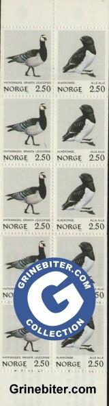 FH59 Hvitkinngås og alkekonge frimerker