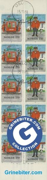 FH63 Røverne i Kardemomme by og Politimester Bastian frimerker