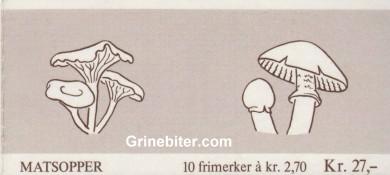 Traktkantarell og rimsopp FH68 frimerkehefte