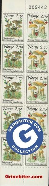 FH68 Traktkantarell og rimsopp frimerker