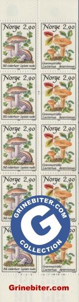 FH71 Blå ridderhatt og granmatriske frimerker