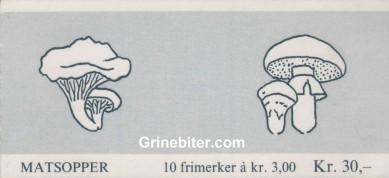 Ekte kantarell og smørsopp FH73 frimerkehefte