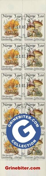 FH73 Ekte kantarell og smørsopp frimerker