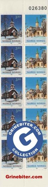 FH81 Mangen kapell og Sandnessjøen kirke frimerker