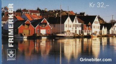 Parti fra havnen i Skudeneshavn i Rogaland FH85 frimerkehefte