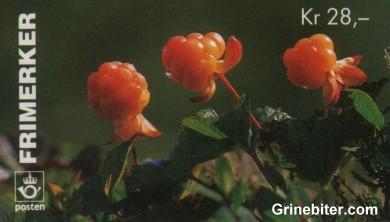 Markjordbær og molte FH89 frimerkehefte