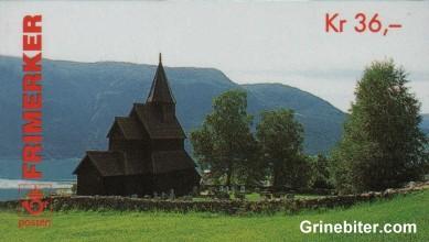 Urnes stavkirke i Luster i Sogn FH91 frimerkehefte