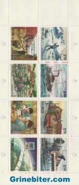 FH93 Motiver fra utviklingen i postbefordringen frimerker