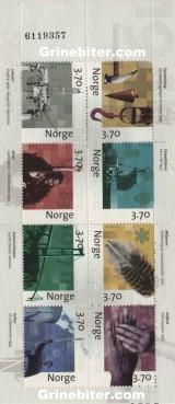 FH96 Motiver fra høydepunkter i norsk etterkrigshistorie frimerker