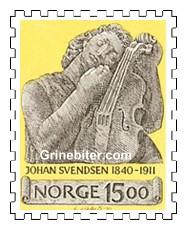 Utsnitt av monument av Johan Svendsen