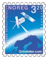 Satellitt sender signal til Tromsø