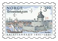 Parti fra Kristiansand havn, ca. 1660