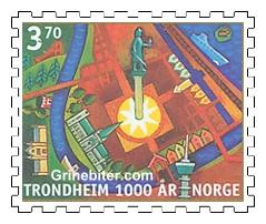 Kart over dagens Trondheim sentrum