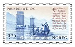 Petter Dass ros i land fra nordlandsjekt