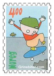 Gut på rullebrett (skateboard)