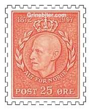 Medaljong med bilde av Kong Haakon
