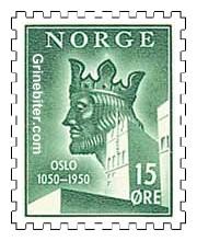 Harald Hardråde, med Oslo rådhus