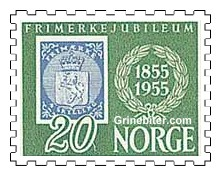 Kopi Norges første frimerke