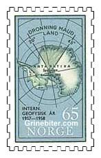 Kart over Antarktis