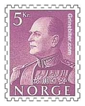 Kong Olav V i gallauniform