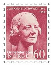Byste av Johanne Dybwad