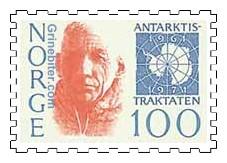 Roald Amundsen og kart over Antarktis