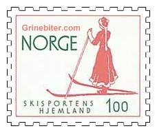 Kvinnelig skiløper fra århundreskiftet