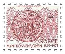 Kronemynt (revers) fra 1875