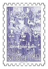 Kong Olav V leser trontalen i Stortinget