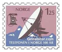 Satellitt-jordstasjon og telefonapparat